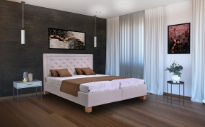 Čalúnená posteľ Elizabeth II. 180x200, vr. mat., pol. roštu, úp