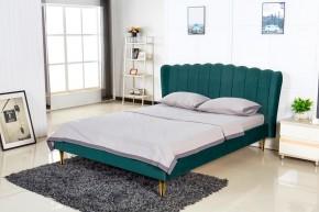 Čalúnená posteľ Florence 160x200, zelená, vrátane roštu