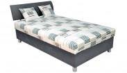 Čalúnená posteľ George 120x200, šedá, vrátane matracov a úp