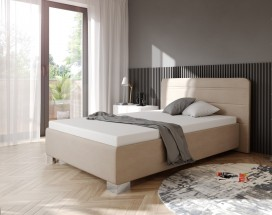 Čalúnená posteľ Hamilton 140x200, béžová, vr. mat., pol.roštu,ÚP