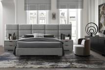 Čalúnená posteľ Ludvig 160x200, sivá, bez matracov a ÚP