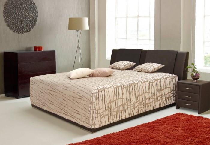 Čalúnená posteľ Mirror 2 180x200 vrátane roštu a úp,bez matracov