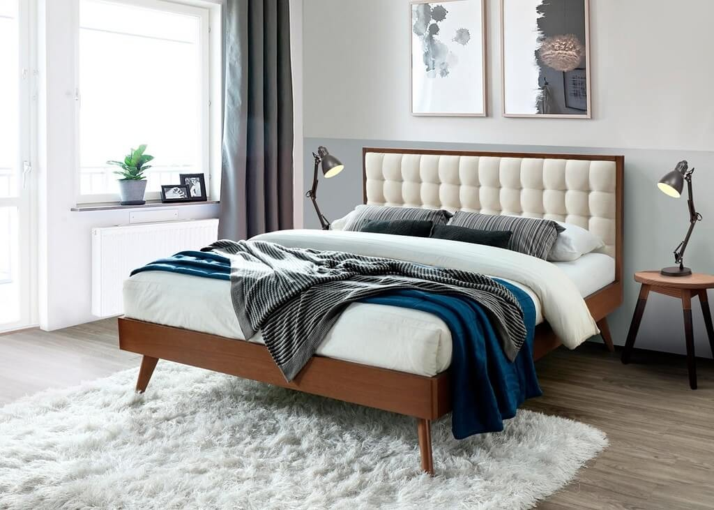 Čalúnená posteľ Posteľ Frances 160x200, orech, vrátane roštu, bez matracov a ÚP