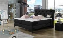 Čalúnená posteľ Violet 180x200,čierna, vr. matraca a ÚP