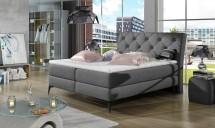 Čalúnená posteľ Violet 180x200, sivá, vr. matraca a ÚP