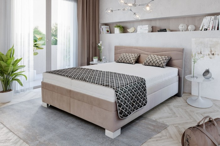 Čalúnená posteľ Windsor 180x200 vrátane pol.roštu,úp- II.akosť