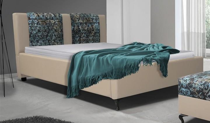 Čalúnená Postel X - 180x200 cm, rošt (madryt 112/fabric alova p2)