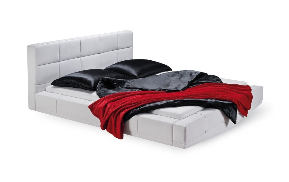 Čalúnená Santi - rám postele, rošt, 2x matrac (200x160)