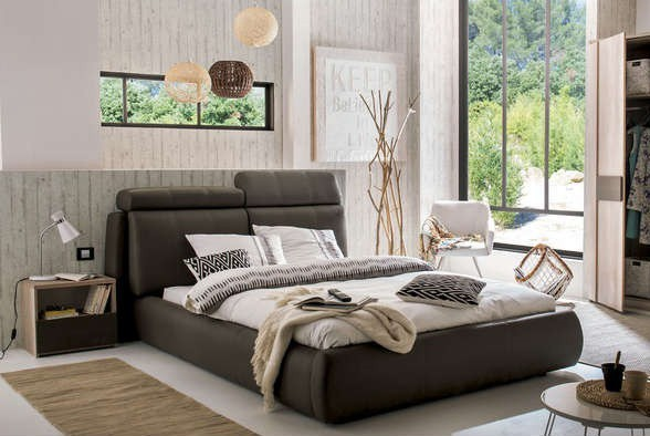 Čalúnená Seldon - rám postele 200x160 (eko koža)