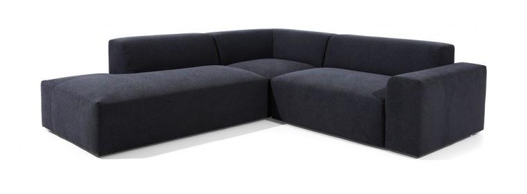 Čalúnené rohové sedačky Rohová sedačka Zeus ľavý roh čierna