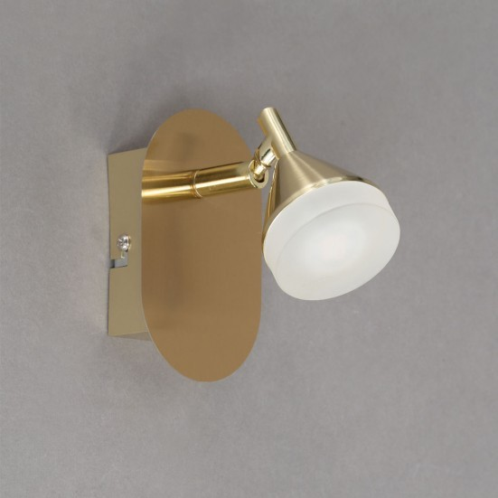 Cameron - Nástenné osvetlenie, LED (matná mosadz)