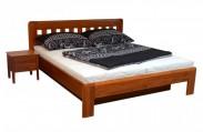 Camira Lux - Rám postele 200x180 (masív buk, morenie višňa)