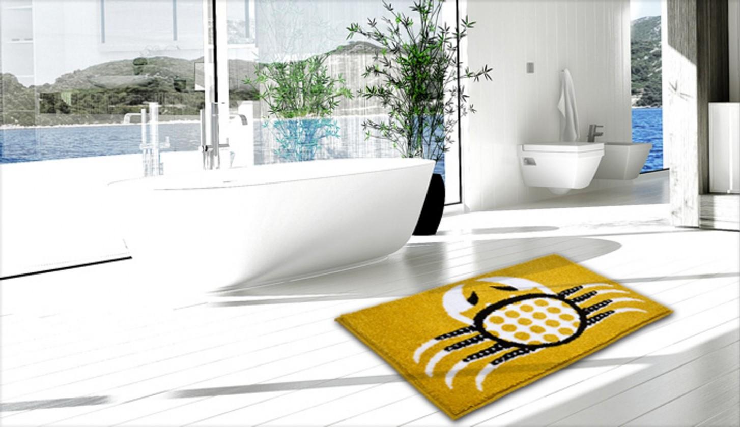 Cancer - Kúpeľňová predložka 60x90 cm (teplá žltá)