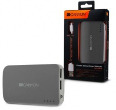 Canyon CNE-CPB78 Power Bank 7800mAh, sivá