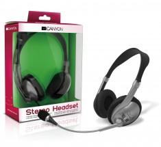 Canyon headset CNR-HS01N čierný strieborny