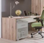 Cariba - Pracovný stôl (san remo dub, biela)