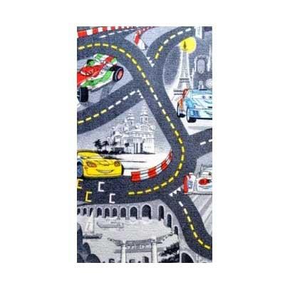 Cars sivý - Koberec 95 x200 cm