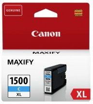 Cartridge Canon PGI-1500XL C, 9193B001, azúrová