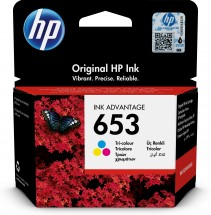 Cartridge HP 3YM74AE, 653, Tri-color