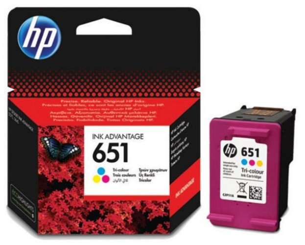 Cartridge HP C2P11AE, 651, Tri-color