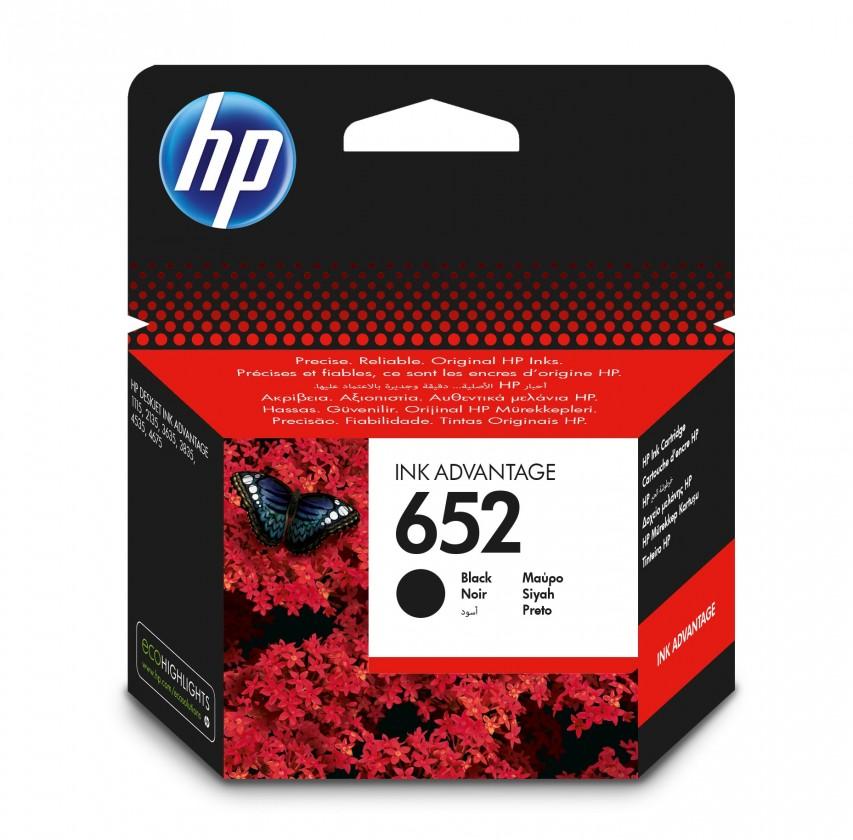 Cartridge HP Cartridge HP F6V25AE, 652, čierna