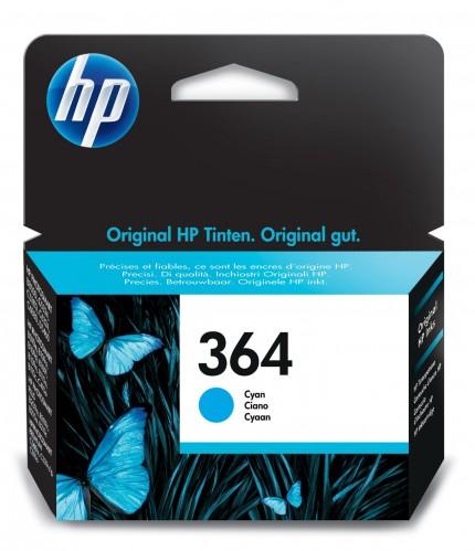 Cartridge HP CB318EE, 364, azúrová