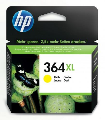 Cartridge HP CB325EE, 364XL, žltá