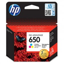 Cartridge HP CZ102AE, 650, Tri-color