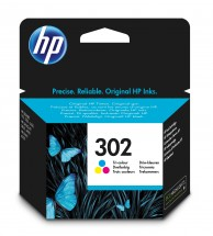 Cartridge HP F6U65AE, 302, Tri-color