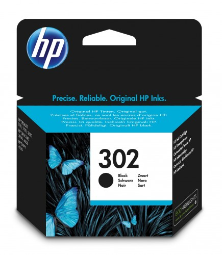 Cartridge HP F6U66AE, 302, čierna