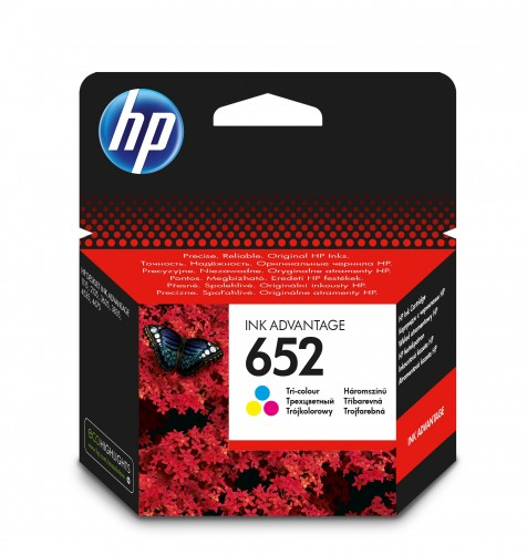 Cartridge HP F6V24AE, 652, Tri-color
