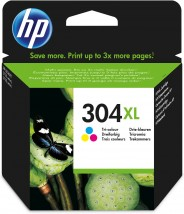 Cartridge HP N9K07AE, 304XL, Tri-color