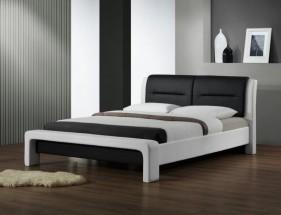 Cassandra - Posteľ 200x160, rám postele, rošt (bielo-čierna)