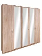 Cassanova - Šatníková skriňa (2x dvere, 3x dvere so zrkadlom)