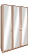 Cassanova - Šatníková skriňa (3x dveře so zrkadlom)