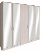 Cassanova - Šatníková skriňa(4x dvere so zrkadlom,jaseň coimbra)
