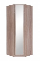 Cassanova - Šatníková skriňa rohová (1x dvere so zrkadlom)