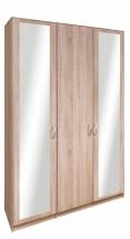 Cassanova - Skriňa, 1x dvere,2x dvere so zrkadlom (dub bardolino)