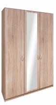 Cassanova - Skriňa, 2x dvere,1x dvere so zrkadlom (dub bardolino)