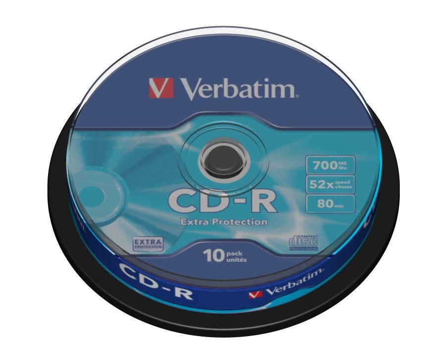 CD Verbatim CD-R 700MB 52x, 10ks (43725)