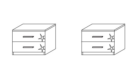 Celle AP455.646Z - pár (dub sanremo svetlý/biela lesk)
