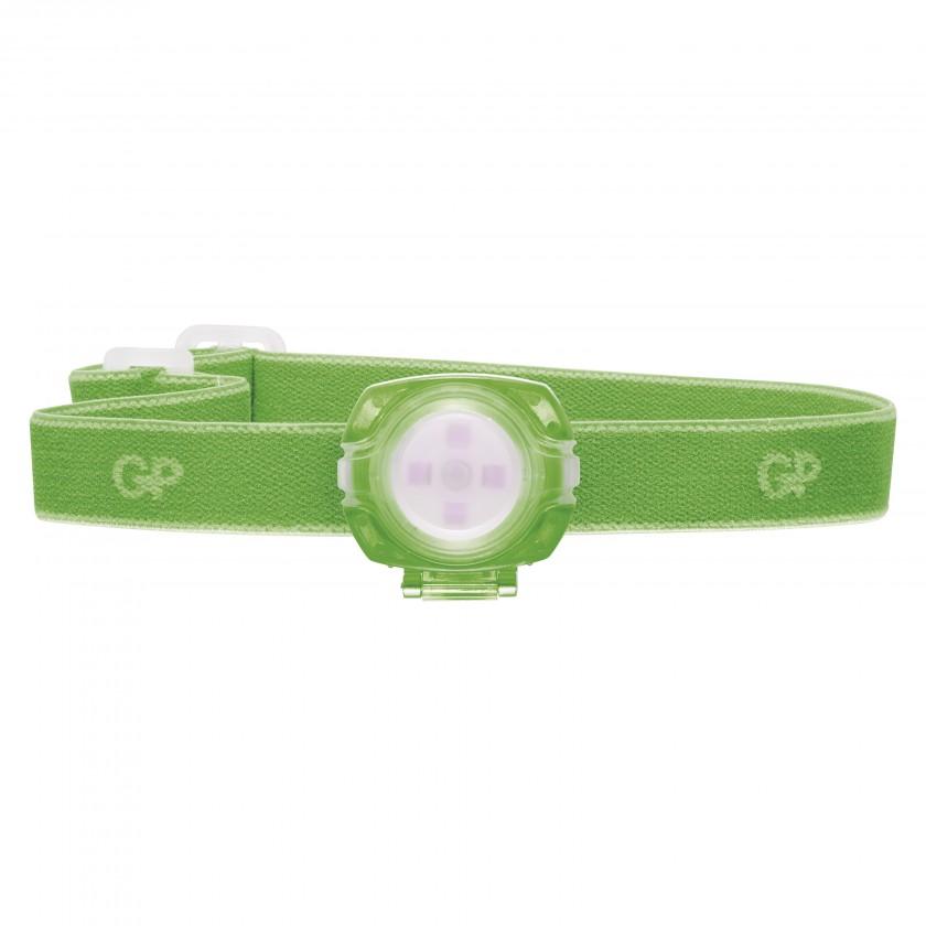 Čelovky Čelovka GP CH31, LED, 2x CR2025, zelená