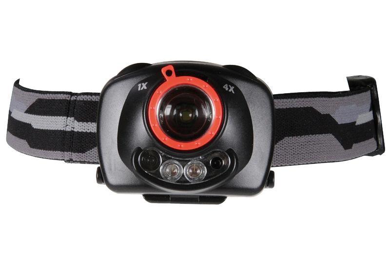 Čelovky Čelovka na 3x AAA, 1 + 2 LED, IR čidlo + fokus