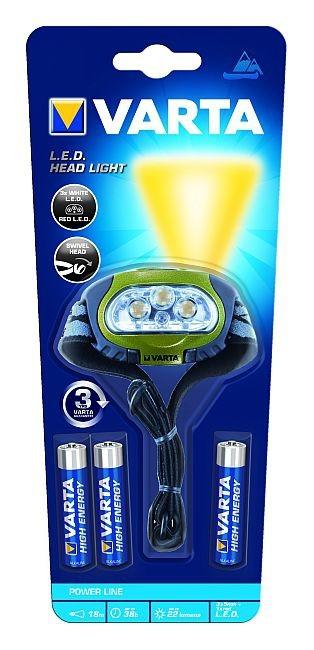 Čelovky  Varta LED svítilna čelovka