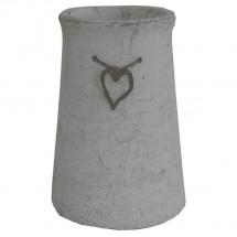 Cementová váza CV03 so srdiečkom (25 cm)