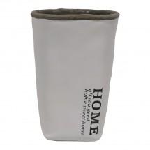 Cementová váza CV04 biela (20 cm)