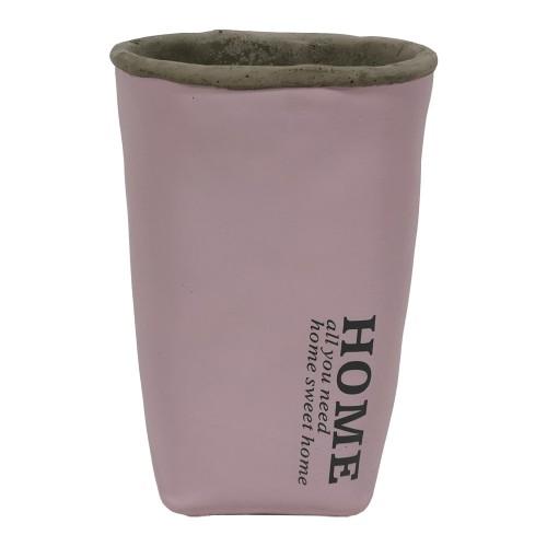 Cementová váza CV05 ružová (20 cm)