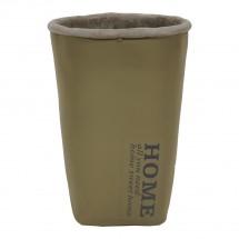 Cementová váza CV06 khaki (20 cm)