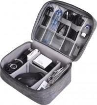 Cestovné puzdro na elektroniku XL, 24cmx17cmx9cm, šedá