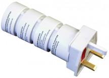 Cestovný adaptér Solight PA21, skladacie, biely